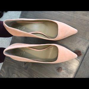 Pink heels, size 8